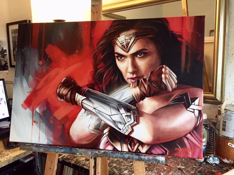 pinturas super heroes mujer maravilla gal gadot wonderwoman trending magazine marvel increibles pelicula