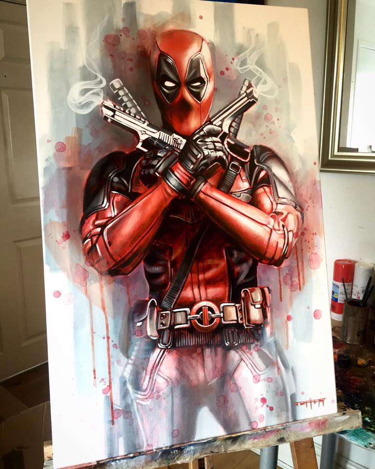 pinturas deadpool trending magazine marvel increibles