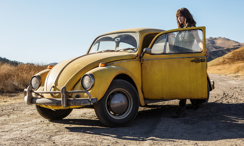 Bumblebee - First look trending magazine estreno pelicula transformers paramount vocho amarillo Hailee Steinfeld