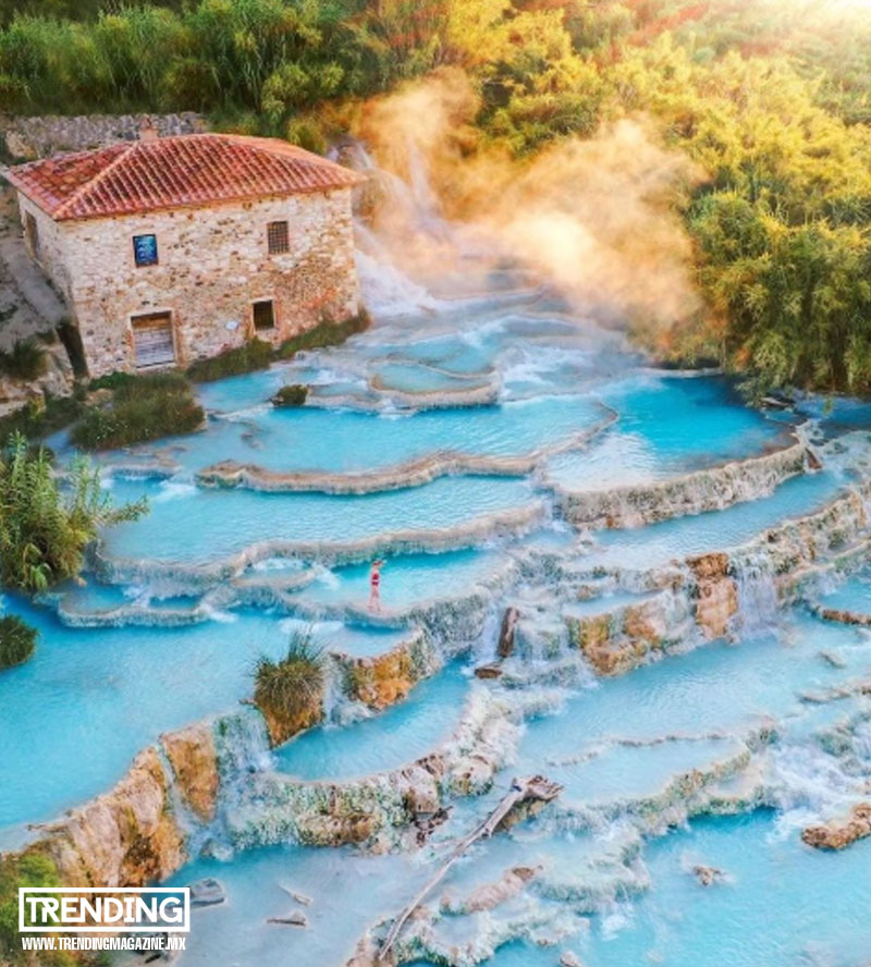 termas de saturnia aguas termales en italia magazine revista trending